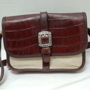 Vintage Classic Brighton Brown Tan Crossbody Bag